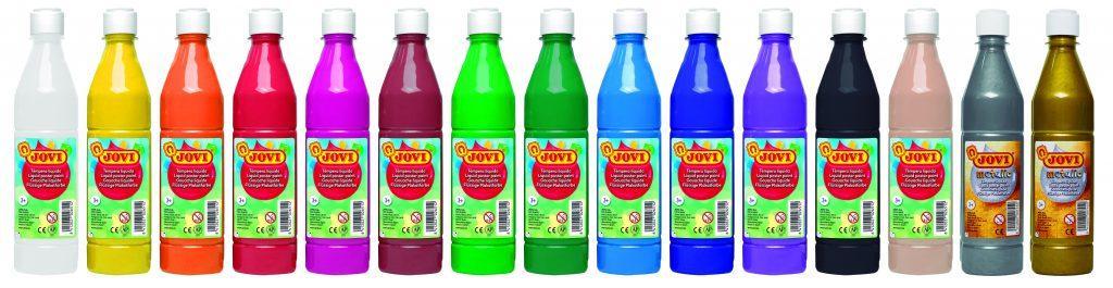 Farby plakatowe w butelkach, artykuły dla przedszkoli